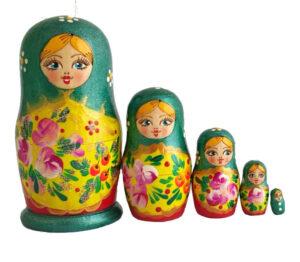 Green toy Traditional Matryoshka T2104033