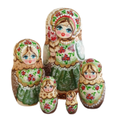 Brown toy Russian doll vert T2104056
