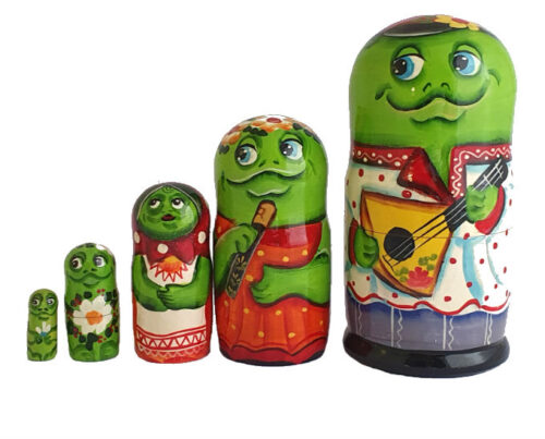 Green toy Nesting doll - Frog T2104047