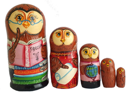 Brown toy Nesting doll - Owl T2104048