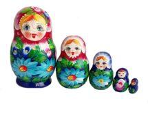 Blue, Purple toy Nesting dolls 5 pieces T2104026