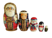 Red toy Russian nesting doll - Santa Claus 210459
