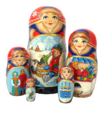 Blue toy Matryoshka - Folk Tale T2104003