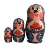 Black, Pink, White toy Nesting doll - Hedgehog T2104050