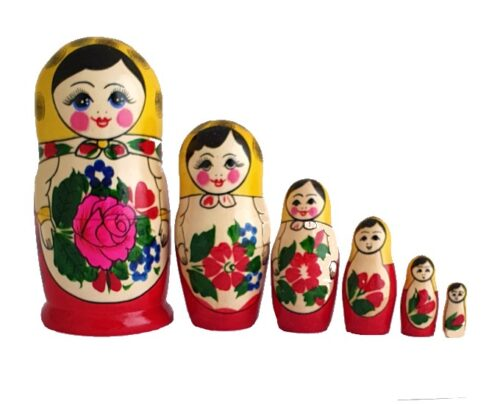 Red, Yellow toy Classic Matryoshka - Traditional (6 pieces) T2104002