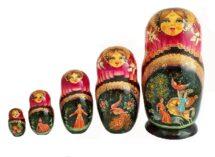 Black, Purple toy Matryoshka 5 places - Fairy Tale Firebird T2105011