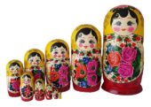 Red, Yellow toy Classic Matryoshka - Traditional (10 pieces) T2104074