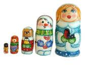 "Blue toy Matryoshk ""Snow Maiden"" T2105019"