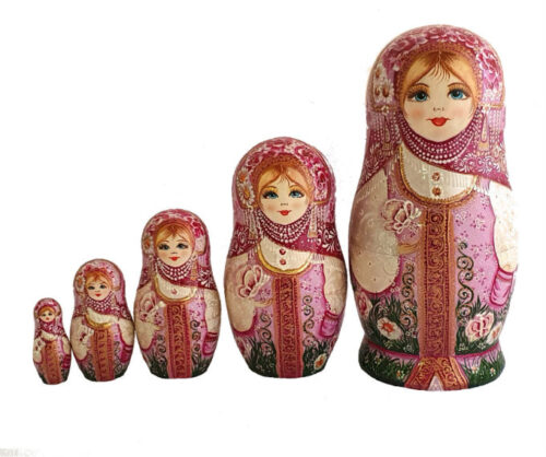 Pink toy Traditional Matryoshka - Serenity of a Summer Morning T2104065