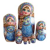 Blue, Brown toy Poupées gigogne 7 pièces bleu 21050022