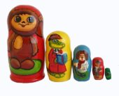 Brown toy Russian doll - Chebourachka T2104075