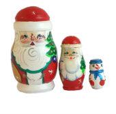 Red toy Matryoshka- Santa Claus T2105009