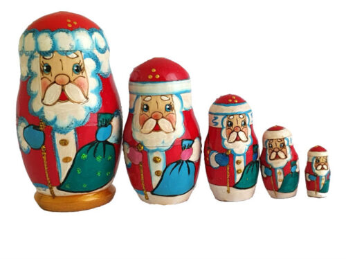 Red toy Russian doll -