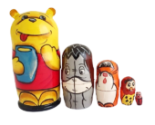 Yellow toy Russian doll -Winnie the Pooh T210479