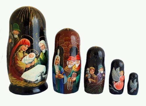 Black toy Matryoshka -