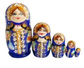 Blue toy Traditional matryoshka T2106001