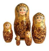 gold toy Matryoshka gold 5 pieces T211001