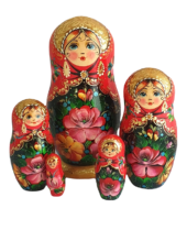 Black, Red toy High-end russian doll red black Jostovo 5 pieces T2107002